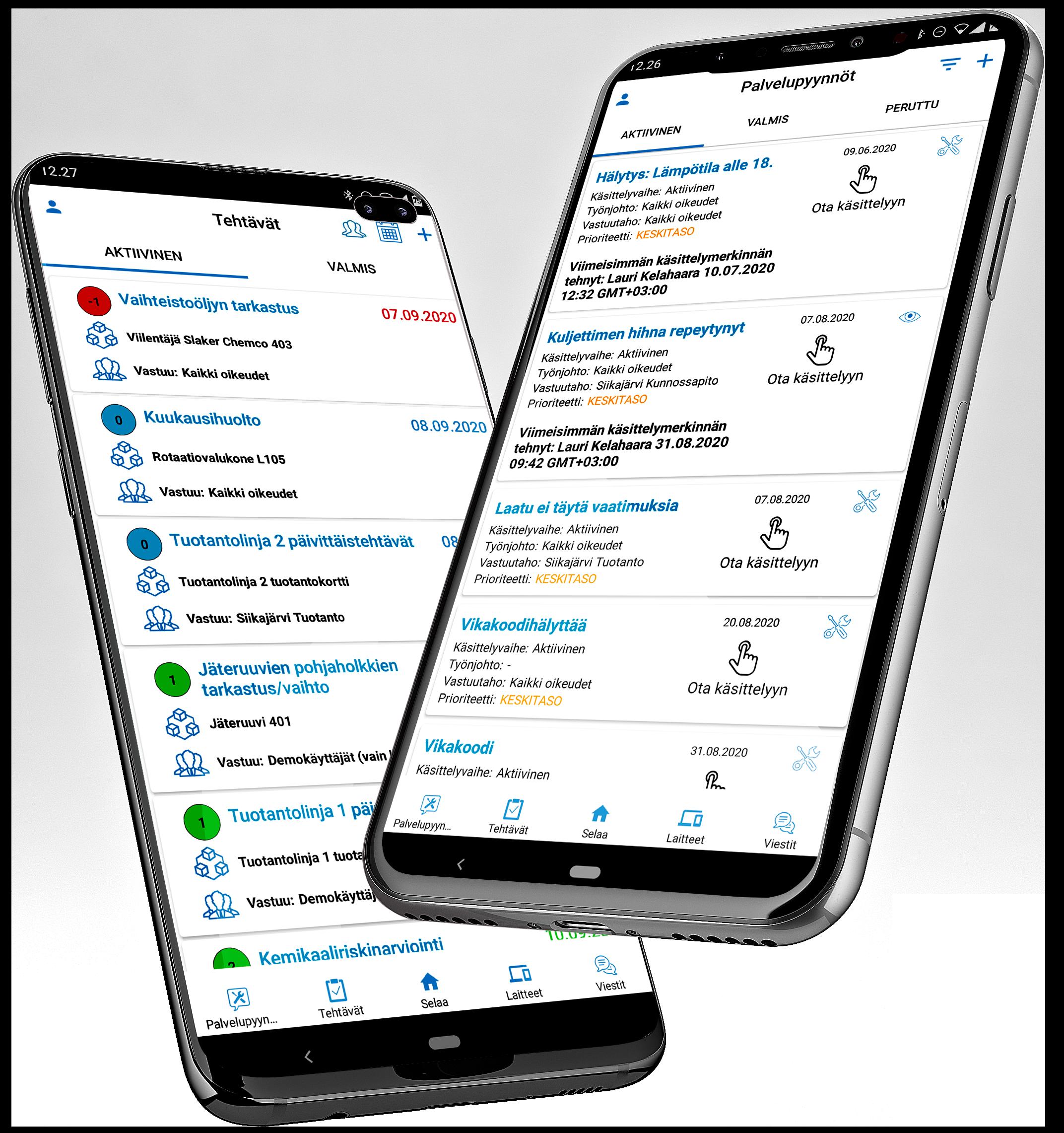 Tehtävät ja palvelupyynnöt mobiilit 2